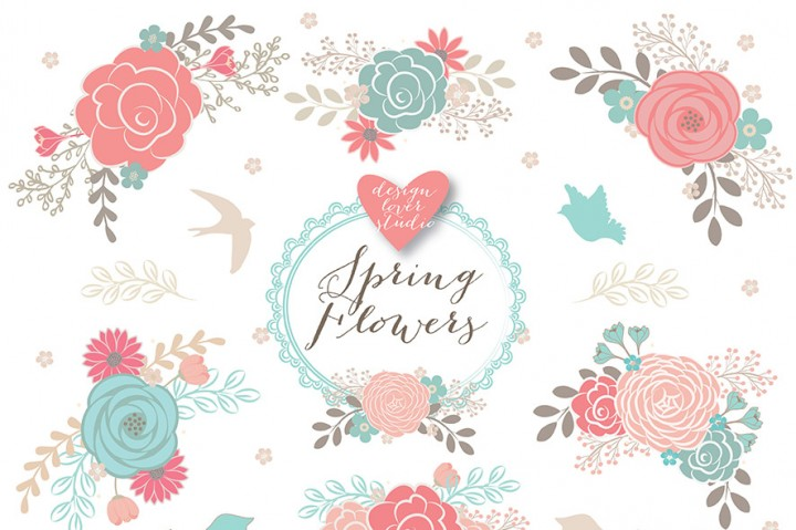486 Spring Flower free clipart.