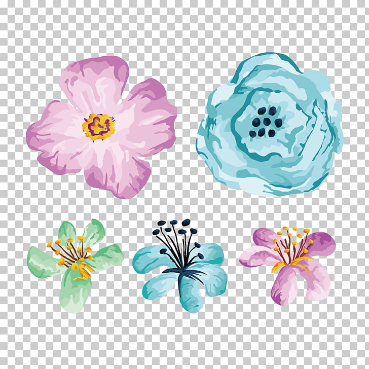 Flower Illustration, Hand painted flower illustration.