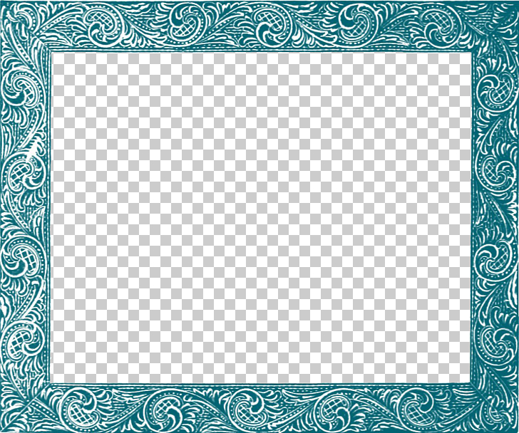 Frame , Teal Border Frame Free , square white and blue.