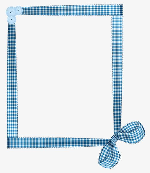 Blue And White Plaid Ribbon Border PNG, Clipart, Blue.