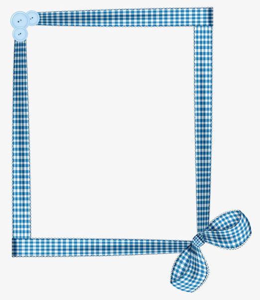 Blue And White Plaid Ribbon Border PNG, Clipart, Blue.