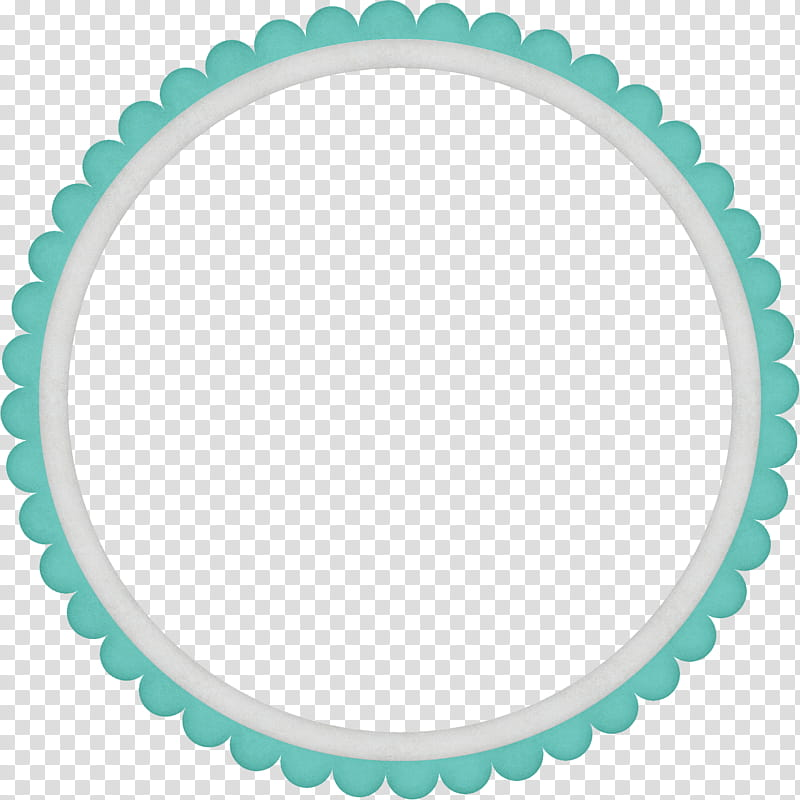 Elements , round teal and white border illustration.