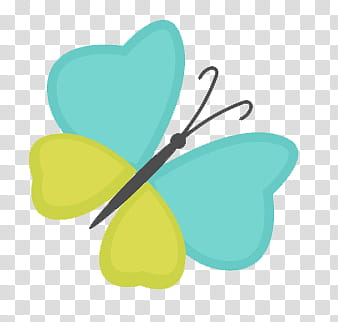 Yellow and teal butterfly illustration transparent.