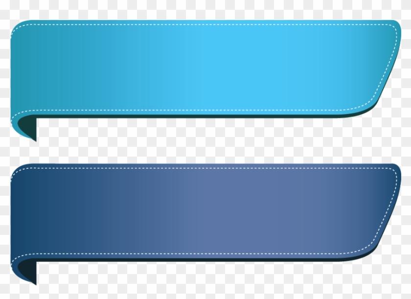Blue Banner Png Image.