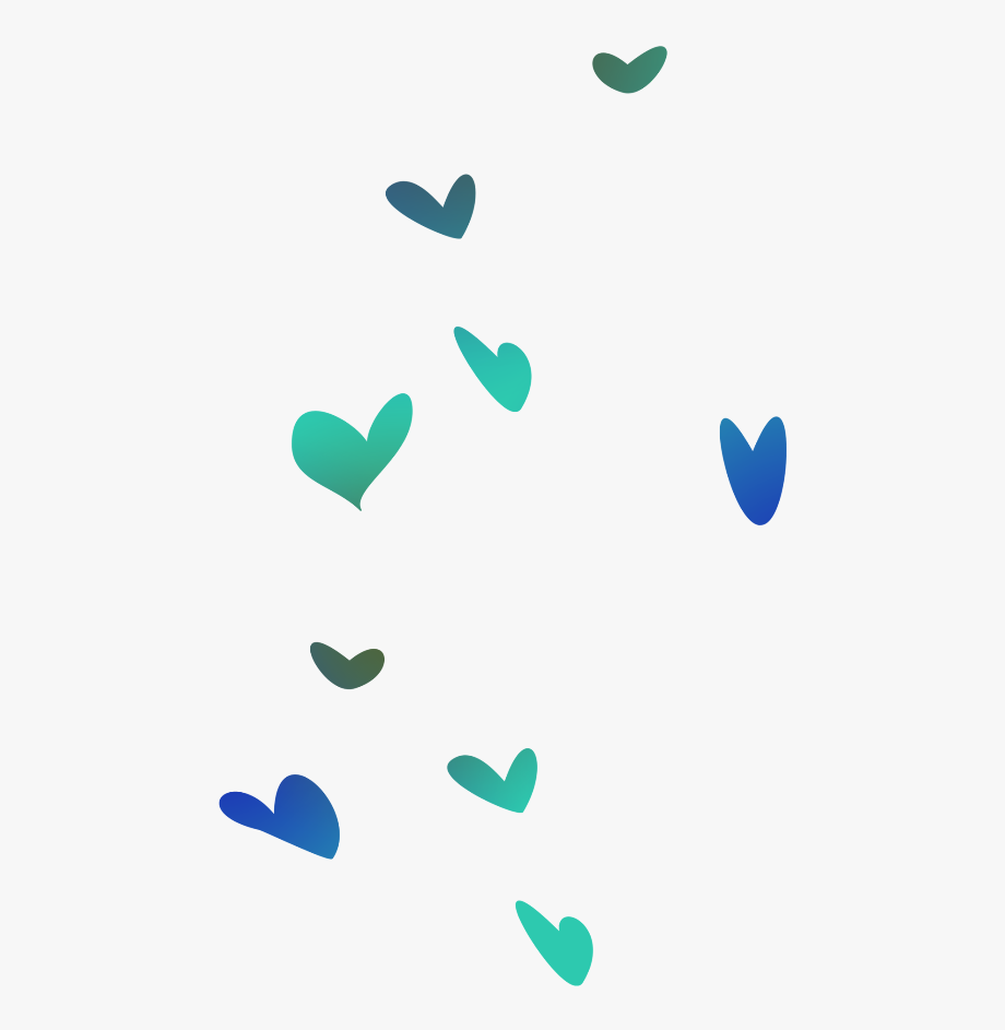 Teal Blue Hearts Png , Transparent Cartoon, Free Cliparts.
