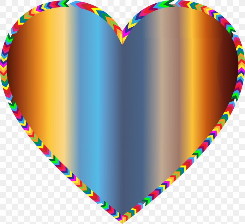Borders And Frames Color Heart Rainbow Clip Art, PNG.