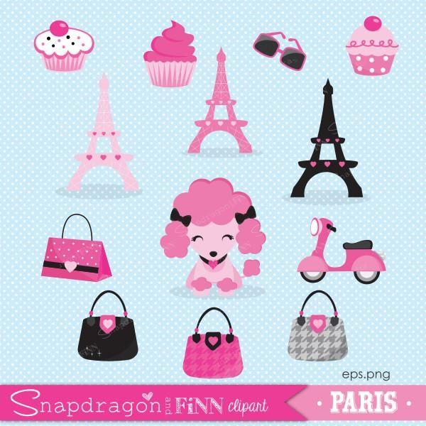 Paris Girls Clipart.