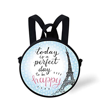 Amazon.com: Toddler Preschool Backpack,Eiffel Tower Decor.
