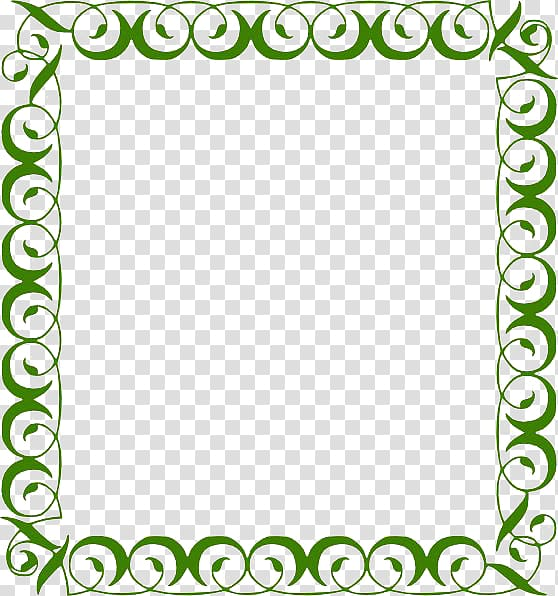 Teal Scalable Graphics , Lime Border Frame Background.