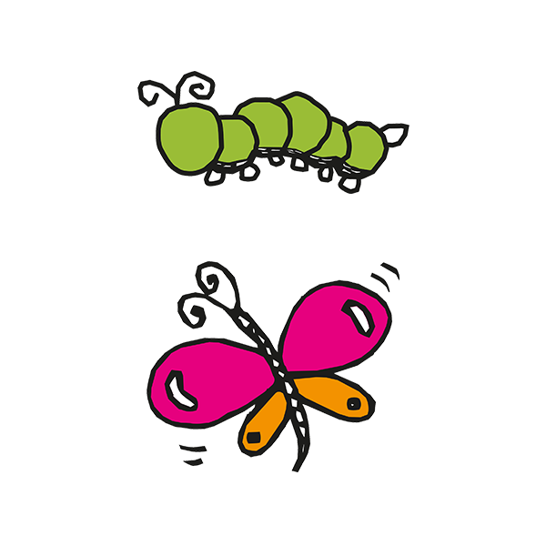 Caterpillar And Butterfly Clipart.