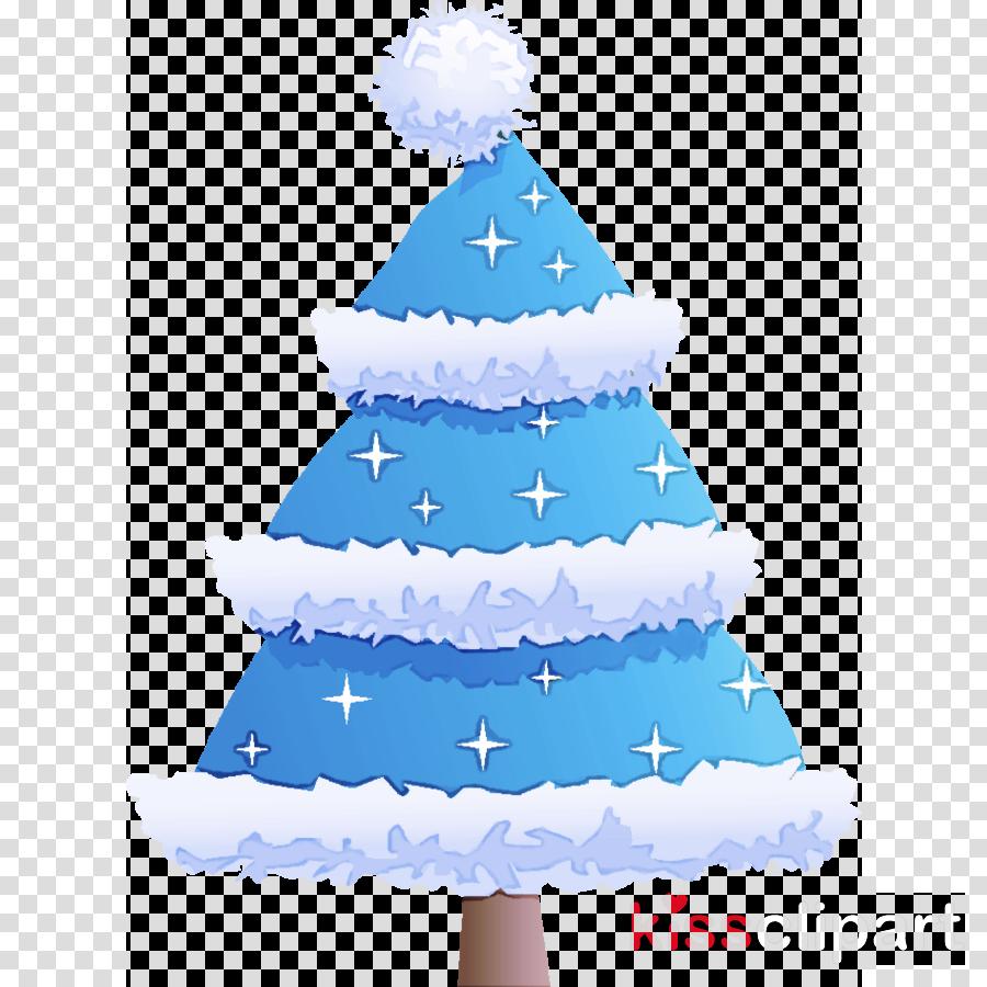 Christmas Tree Clipart Blue.