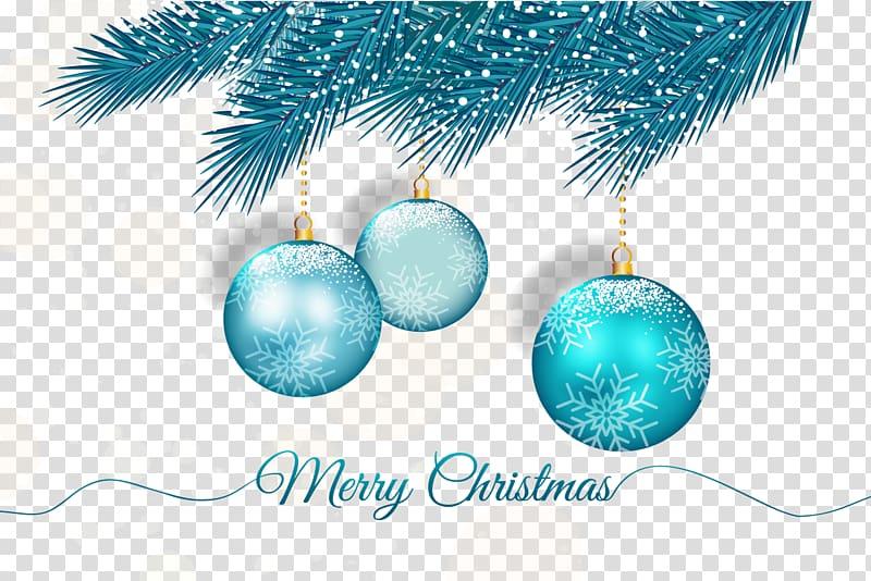 Teal bauble illustration, Christmas ornament , Blue.