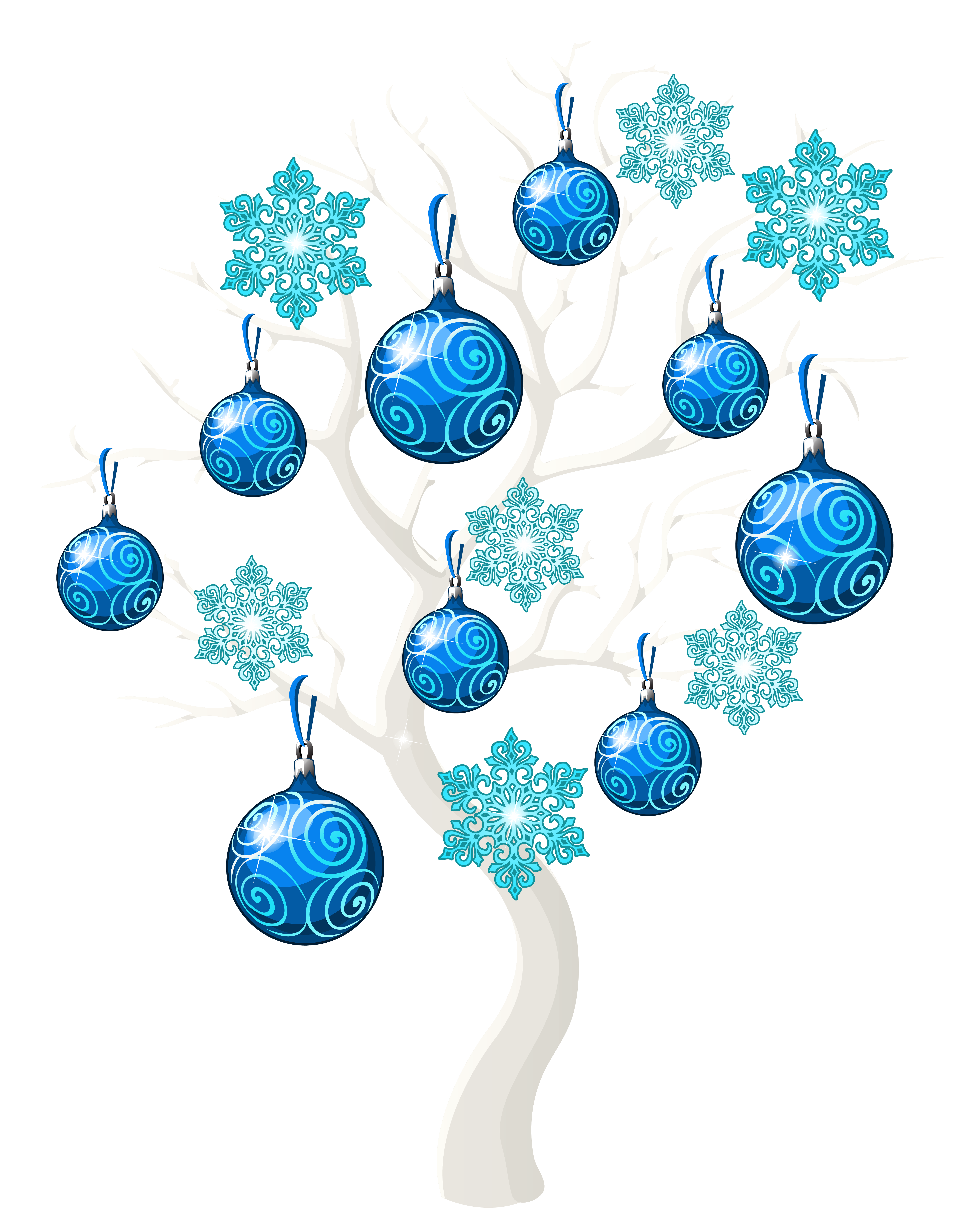 Winter Christmas Tree PNG Clip Art Image.