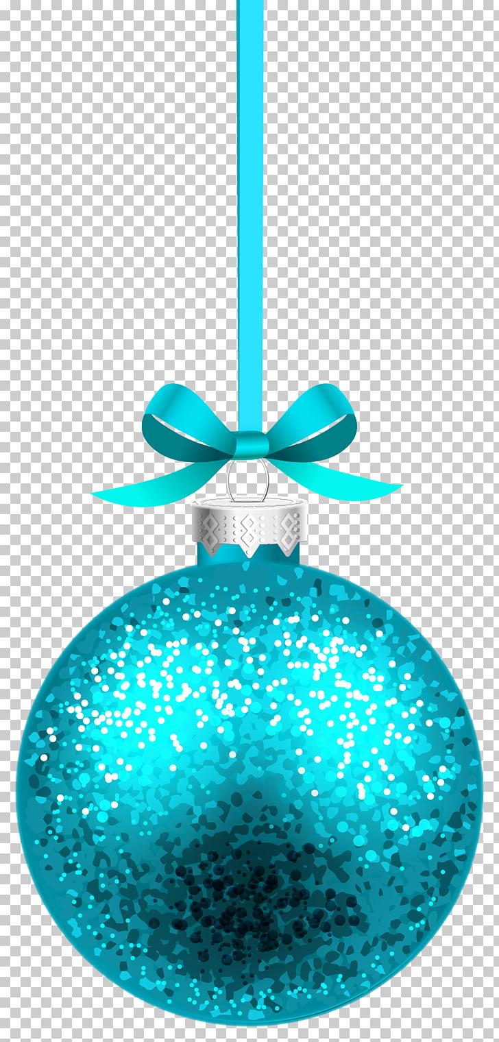 Christmas ornament , Blue Christmas Hanging Ball , teal.