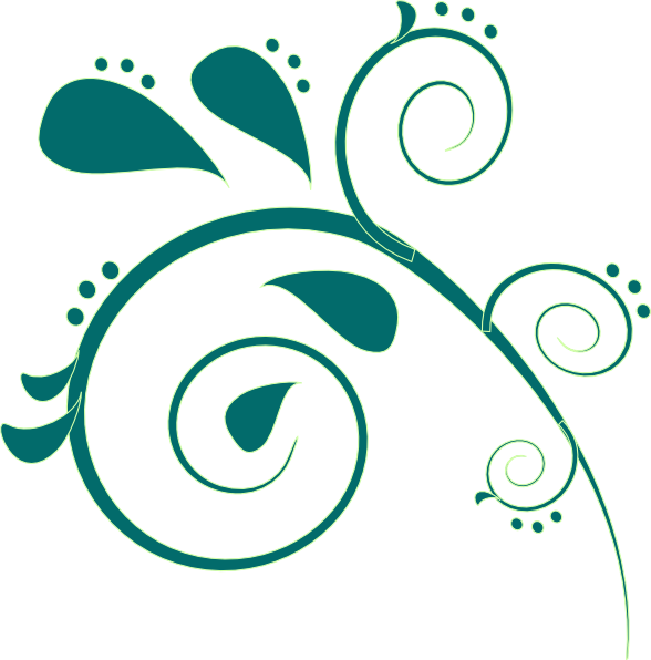 Teal Scroll Clipart.