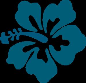 Hibiscus Teal Clip Art at Clker.com.