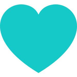 Teal Heart Clip Art, Heart New Free Clipart.