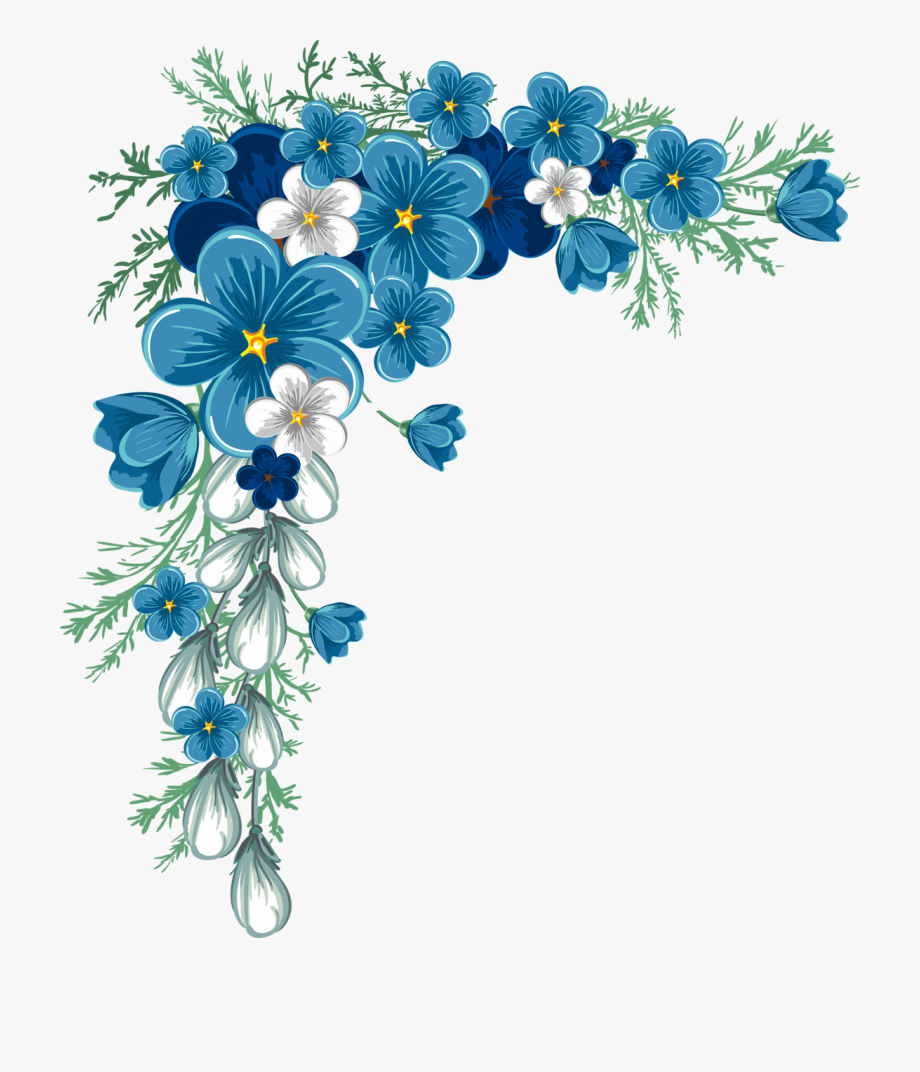 Clip Free Download Flowers Border Clipart.
