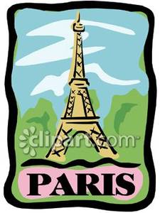 The Eiffel Tower and a Banner For Paris.