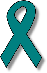 Ovarian Cancer Ribbon Clip Art.