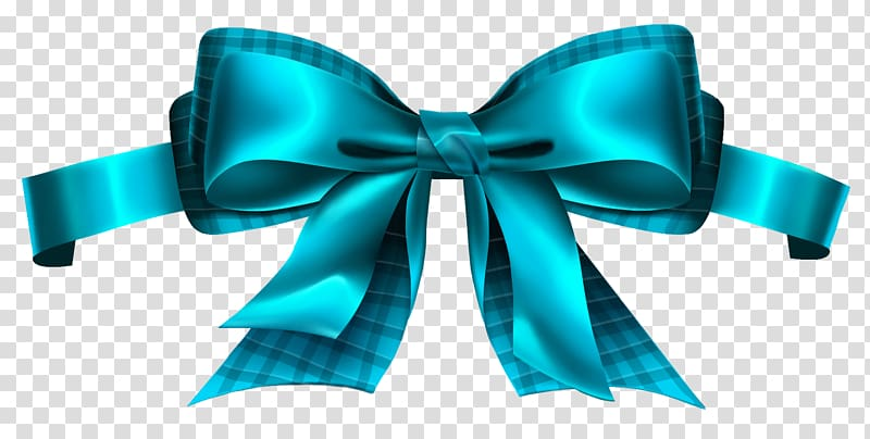 Teal bow tie , Ribbon , Blue Checkered Bow transparent.