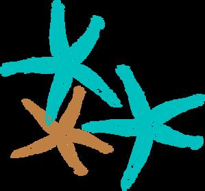 Starfish Prints Clip Art.