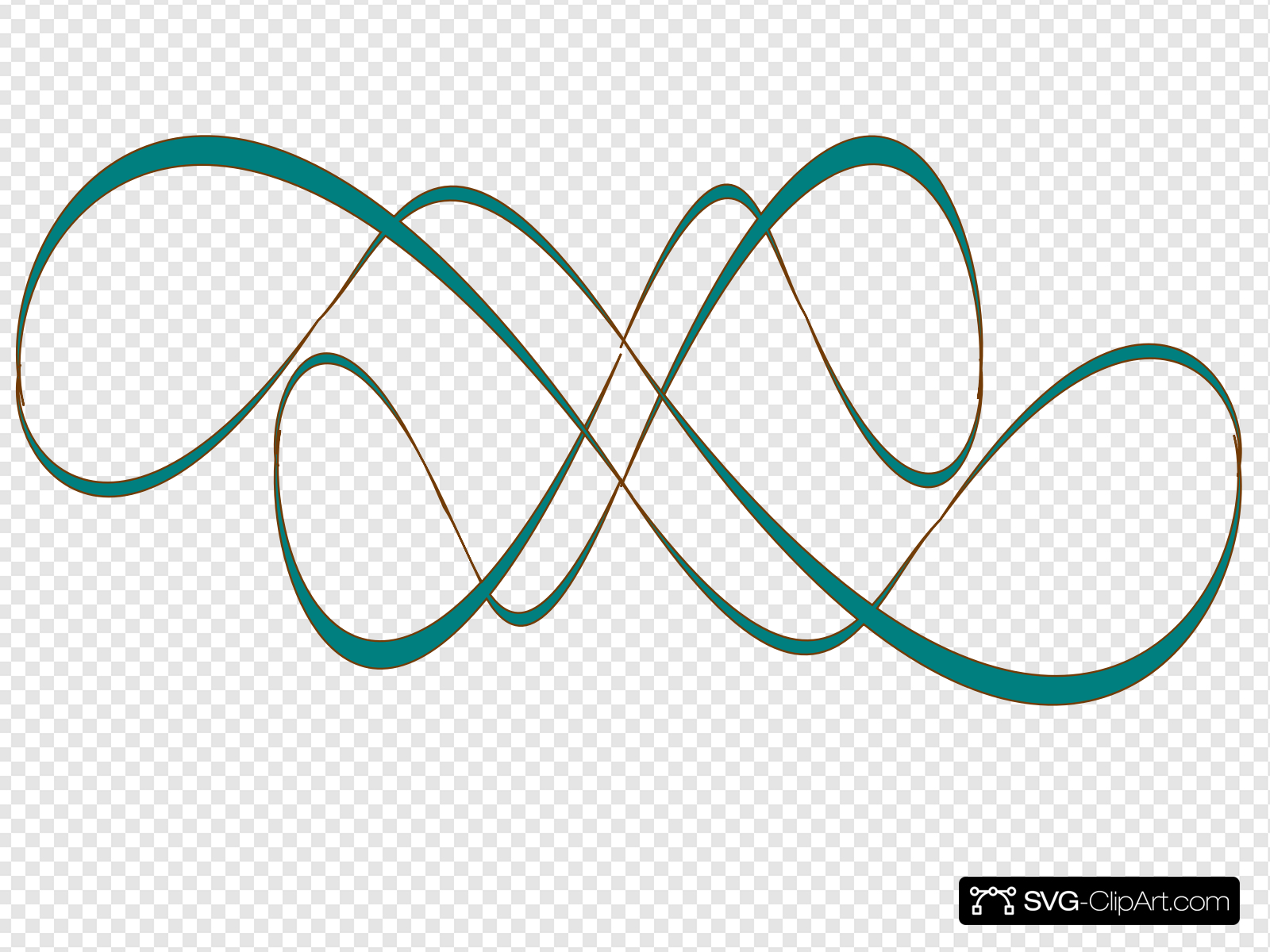 Teal Swirl Clip art, Icon and SVG.