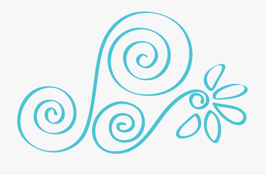 Swirl Clipart Teal.