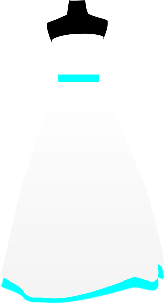 Simple Turquoise Wedding Dress Clip Art at Clker.com.