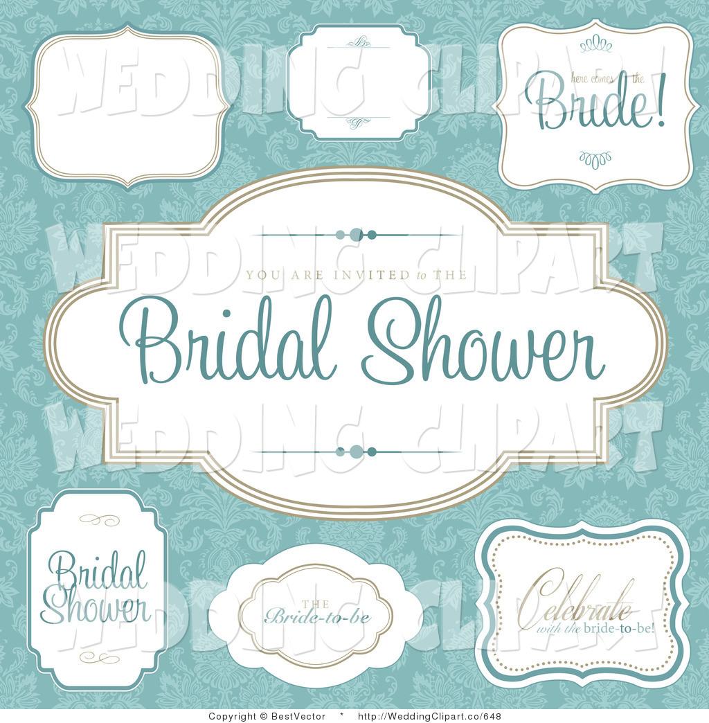 Royalty Free Bridal Shower Stock Wedding Designs.