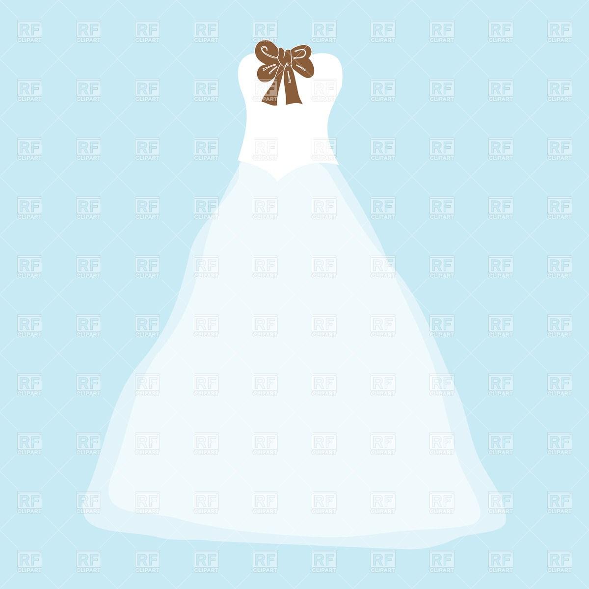 teal wedding dress clipart #17