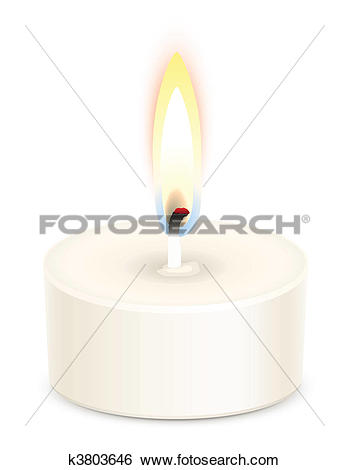 Clip Art of Tealight candle k3803646.