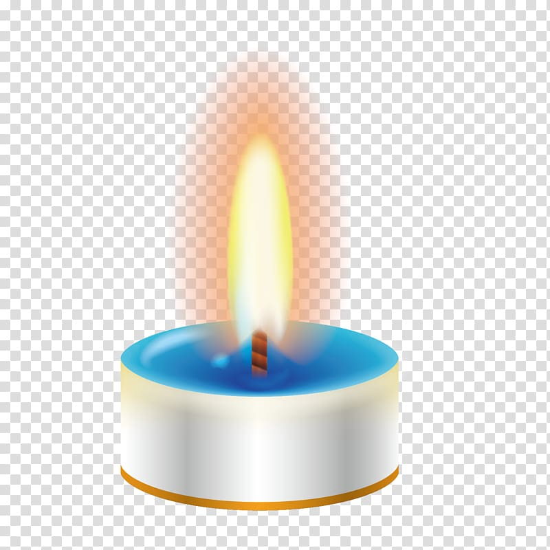 Tealight candle illustration, Candle Euclidean Flame, White.