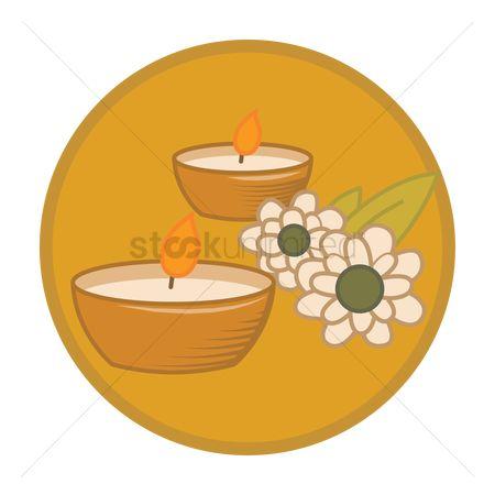 Free Tealight Candles Stock Vectors.