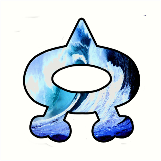 \'Team Aqua Logo (Pokemon)\' Art Print by NotaCat.