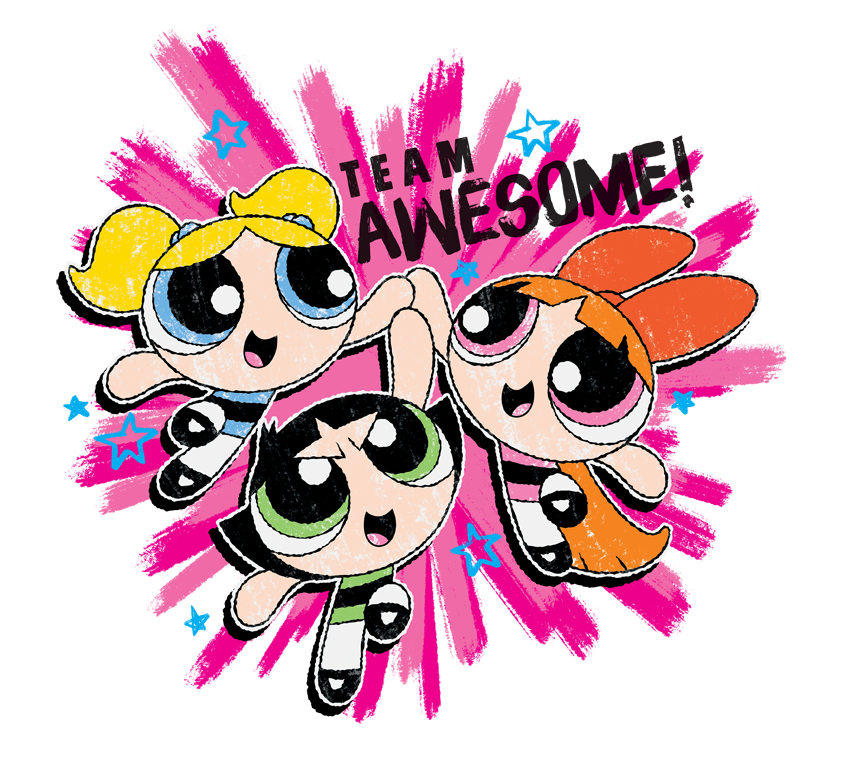 Powerpuff Girls Team Awesome Men\'s Regular Fit T.