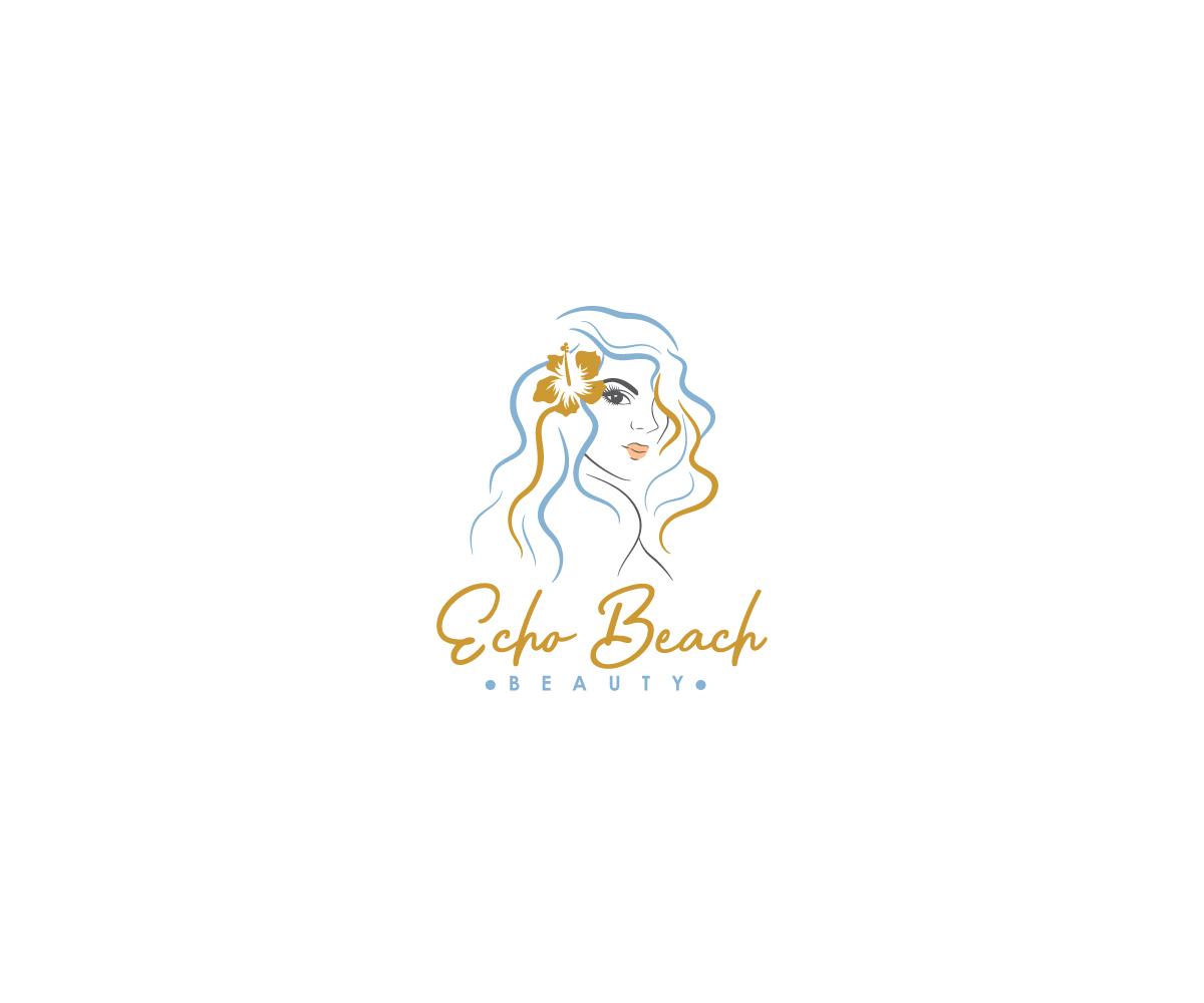 Feminine, Elegant Logo Design for Echo Beach Beauty by.