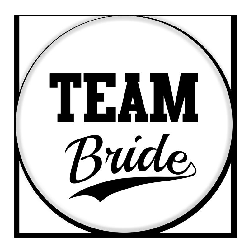 TEAM BRIDE BUTTON.
