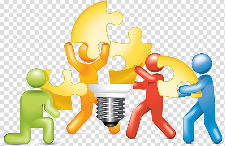 Puzzle logo , Problem solving Social group Teamwork Decision.