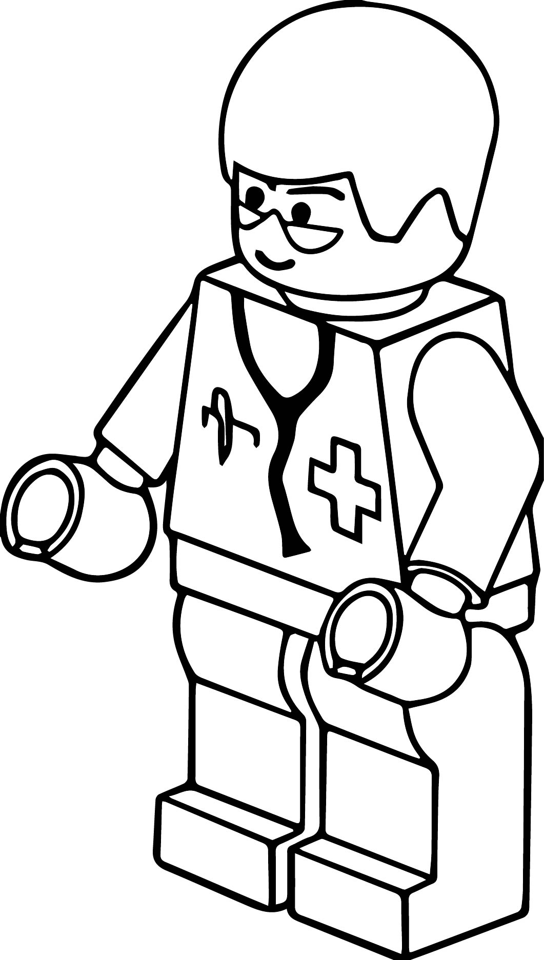 Lego Clipart Black And White.