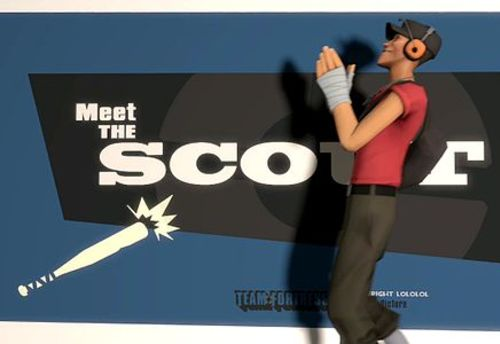 Team Fortress 2 Scout Clipart.