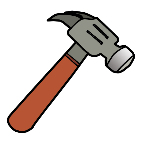 Cartoon hammer clipart.