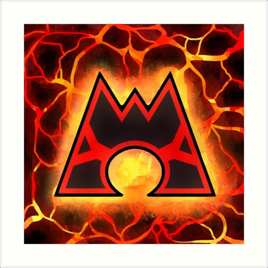 \'Team Magma Logo\' Art Print by webchow.
