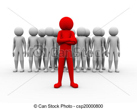 Team Of People Clipart Red.