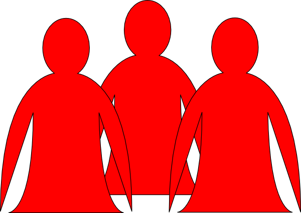 Abstract People Red 2 Clip Art at Clker.com.