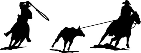 Team Roping Silhouette Clip Art.