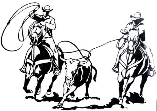 Team Roping Clip Art.