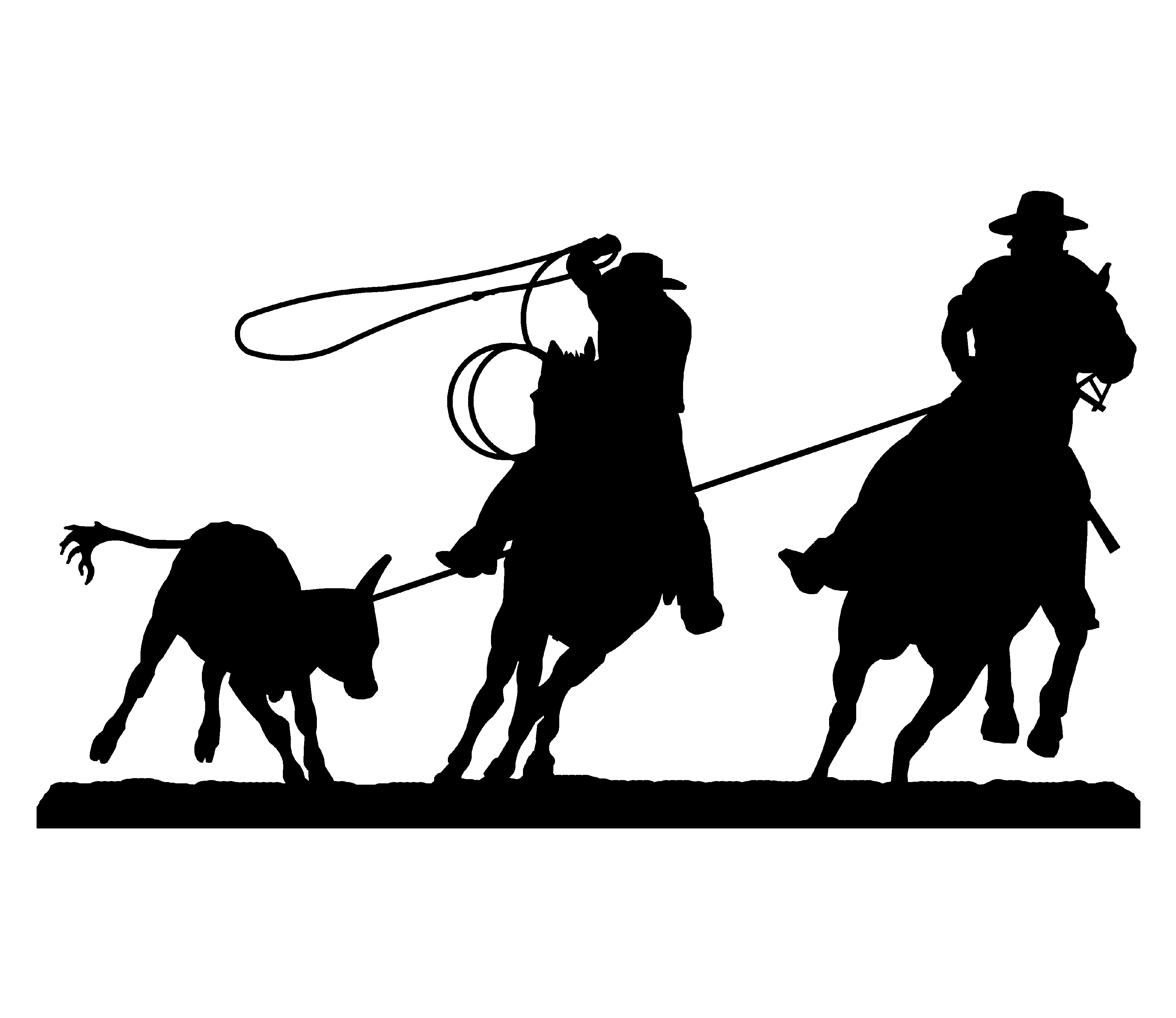 Team Roping Silhouette Embroidery Designs.