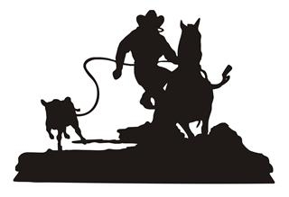 Calf Roping Silhouette at GetDrawings.com.