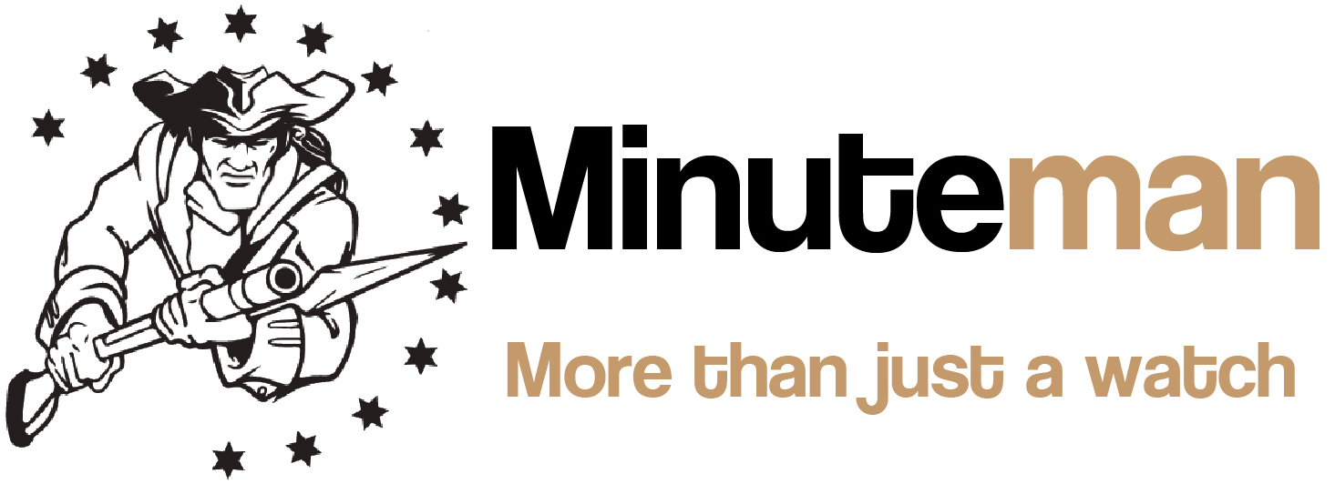 Minuteman Team Rubicon Brushed Bracelet White/Red Logo USA.